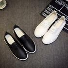 Women Flats Shoes Slip On Comfort Leather Student Shoes Casual Sneakers Loafers