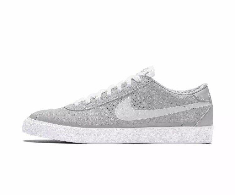 Nike SB Zoom Bruin Men's Skate Shoes Sneakers Grey White 631041-012 Size 7.5