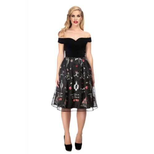 Collectif Vintage Princess Liz Swing dress SZ 8-22 1950 s Fairytale