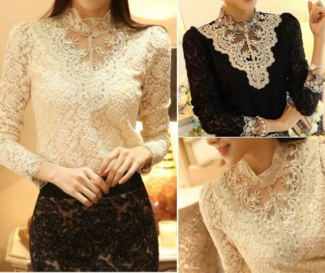 New Women Fashion Korean Chiffon Slim Top Hot Long Sleeve T Shirt Blouse