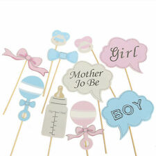 10Pcs DIY Bottle Baby Shower Photo Booth Props Enclosed Stick Party Decoration