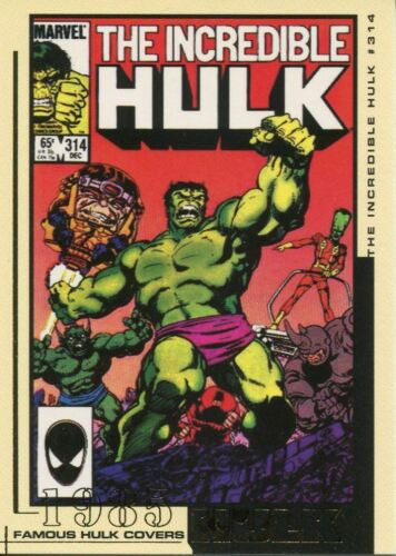 The Hulk Film And Comic Cards Famous Hulk Covers Chase Card FC28