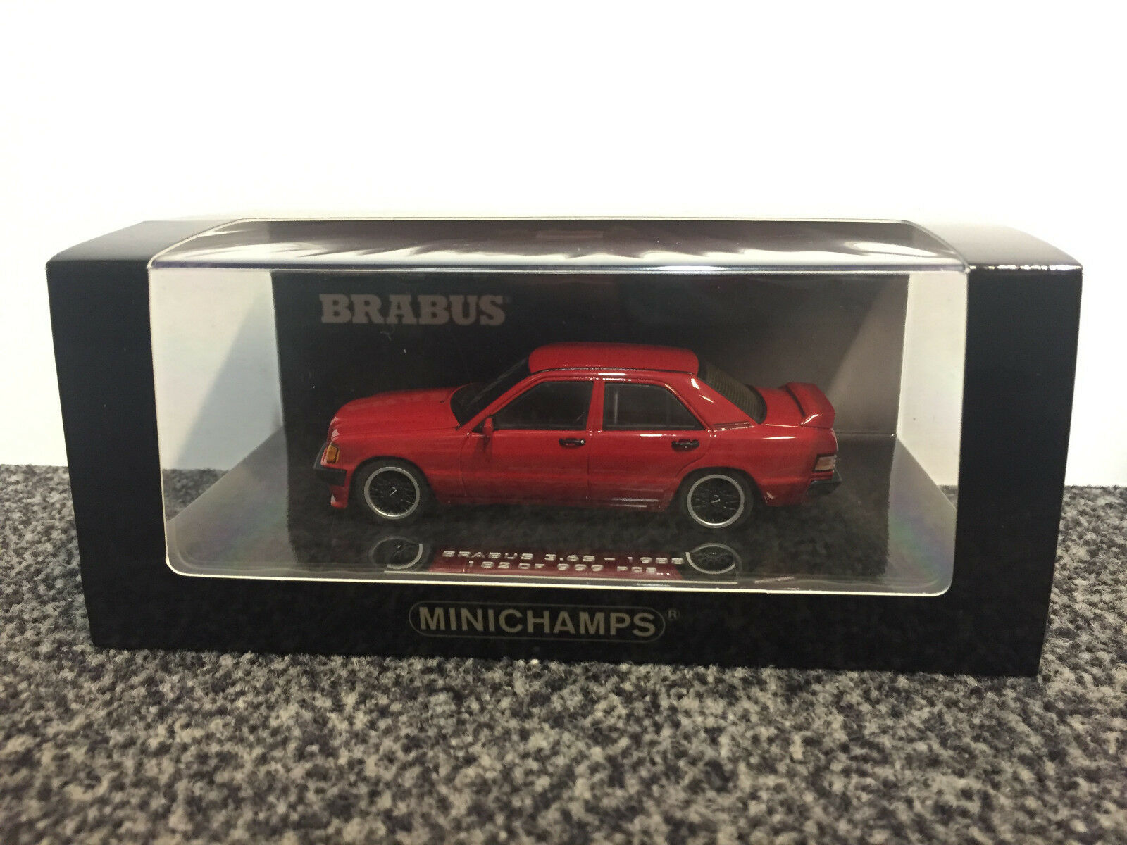 Brabus 3.6s 1988 (190e w201) rouge (nº 182) 1 43 MINICHAMPS