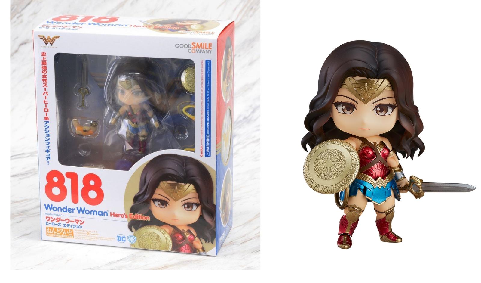 Authentic  818 DC Comics Nendorid Wonder  femme Heros Edition Figure Good Smile  envoi gratuit dans le monde entier
