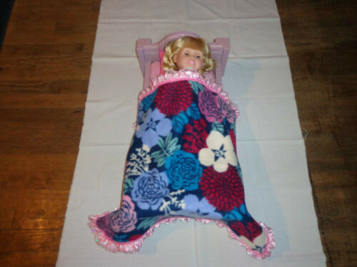 doll bedding for 18 inch american girl blanket pillow set colorful flower F