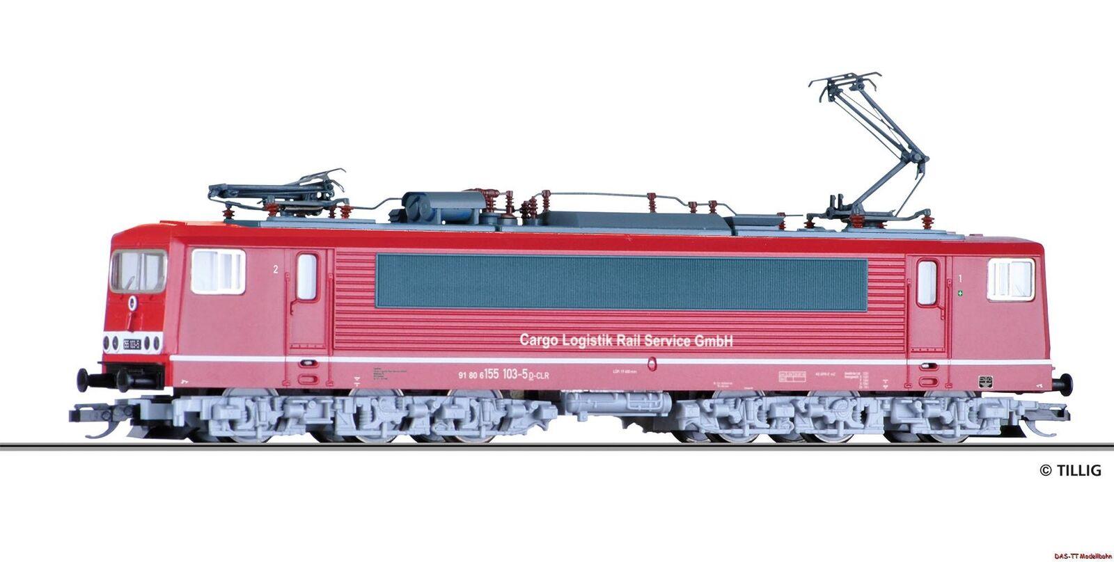 TT elettro-Lok br155 103-5 Cargo logistica Rail Service GmbH EP. vi Tillig 04323