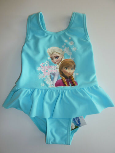 """DISNEY So Cute Little Blue FROZEN /""""Sisters  Forever/"""" Swimming Costume NWT"""