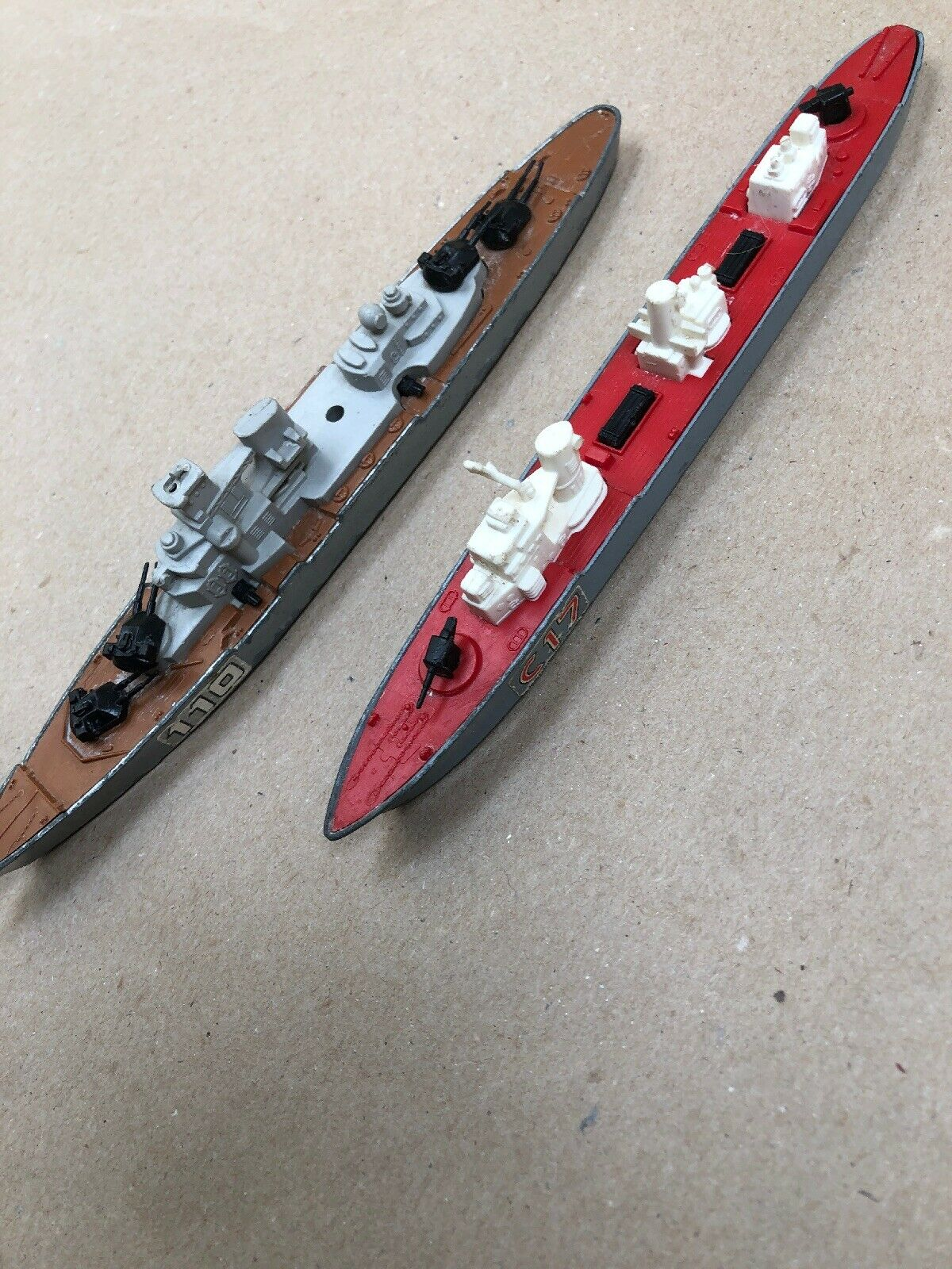 Matchbox Sea Kings C17 & & & 110 Destroyer Boat Toys  1978 Made in UK dae946