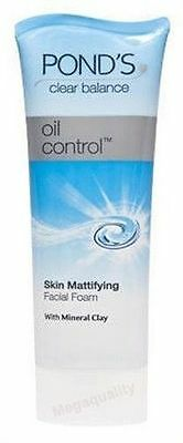 POND s CLEAR BALANCE OIL CONTROL CLEANSER SKIN MATTIFYING FACIAL FOAM 50 g.