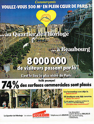 Candid Publicite Advertising 014 1982 Cogedim Quartier De L'horloge à Beaubourg Available In Various Designs And Specifications For Your Selection Other Breweriana