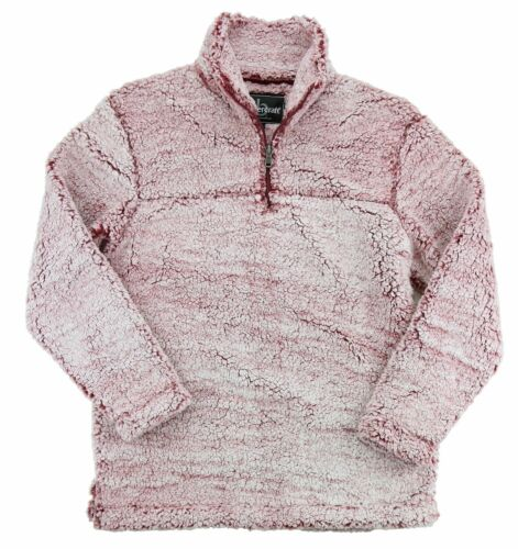 Sherpa Fleece Men/'s Quarter Zip Pullover Sizes XS-2XL Peaches Women/'s q10