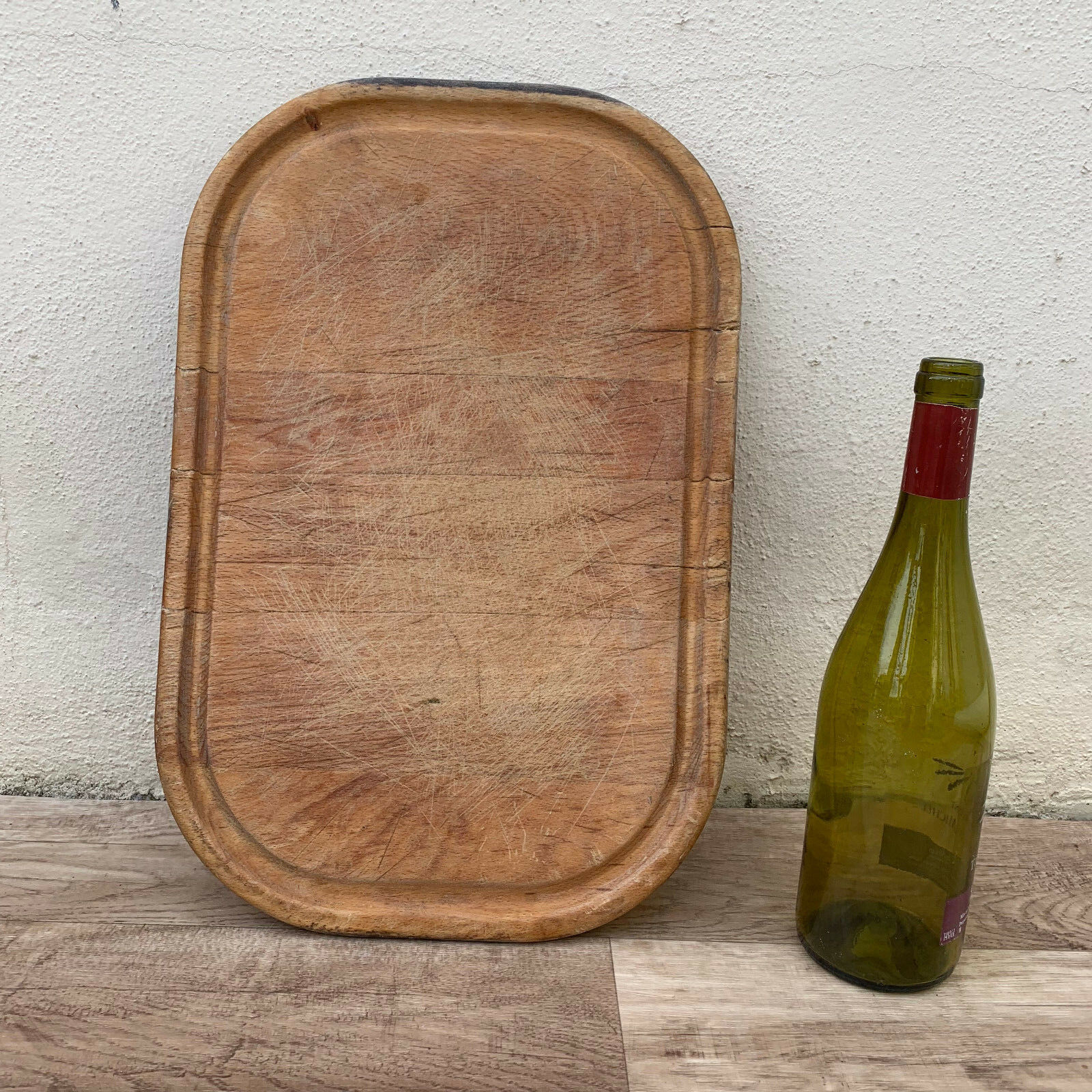ANTIQUE VINTAGE FRENCH BREAD OR CHOPPING CUTTING BOARD WOOD   23121812