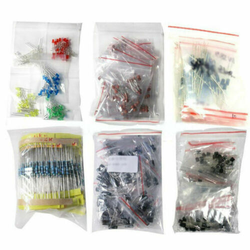 Electronic LED Diode Transistor Capacitor Resistance Components Supplies Set Kit