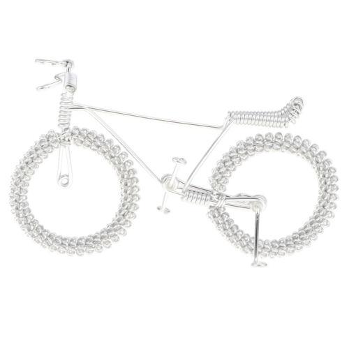 Miniatur Fahrrad Metall Mountainbike Modell mit Blume Rad Handwerk Spielzeug