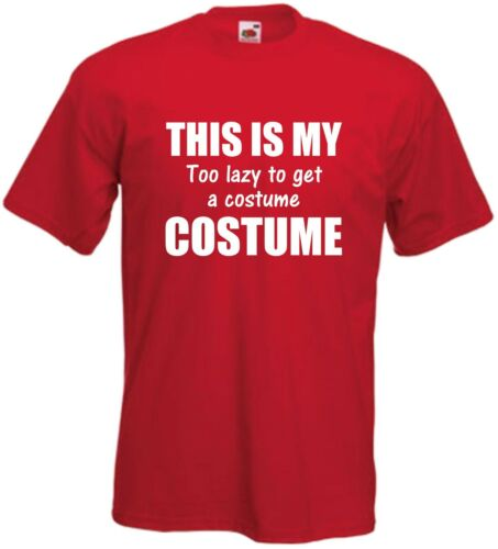 This Is My Too lazy Costume T Shirt Funny Fancy Dress Tee Comedy Top Joke Gift