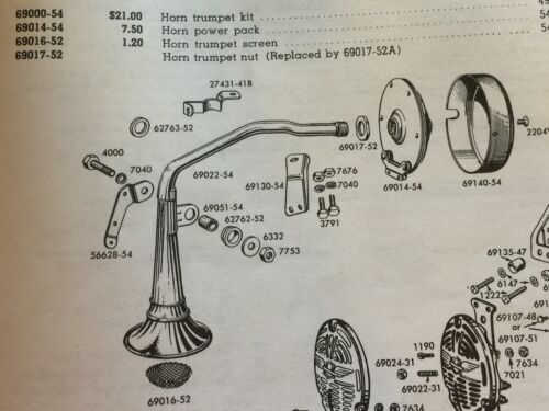 Harley Panhead /& XL Bugle Trumpet Horn Rubber Mount Bracket 54-64 OEM# 69013-54