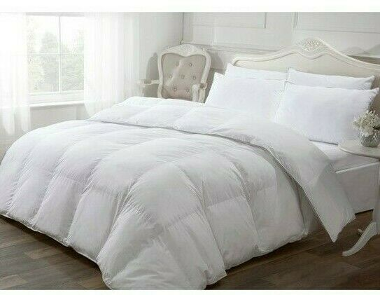 Ideal Home Luxury Like Down 100% Cotton Cover Duvet  Super King Größes 13,5 TOG