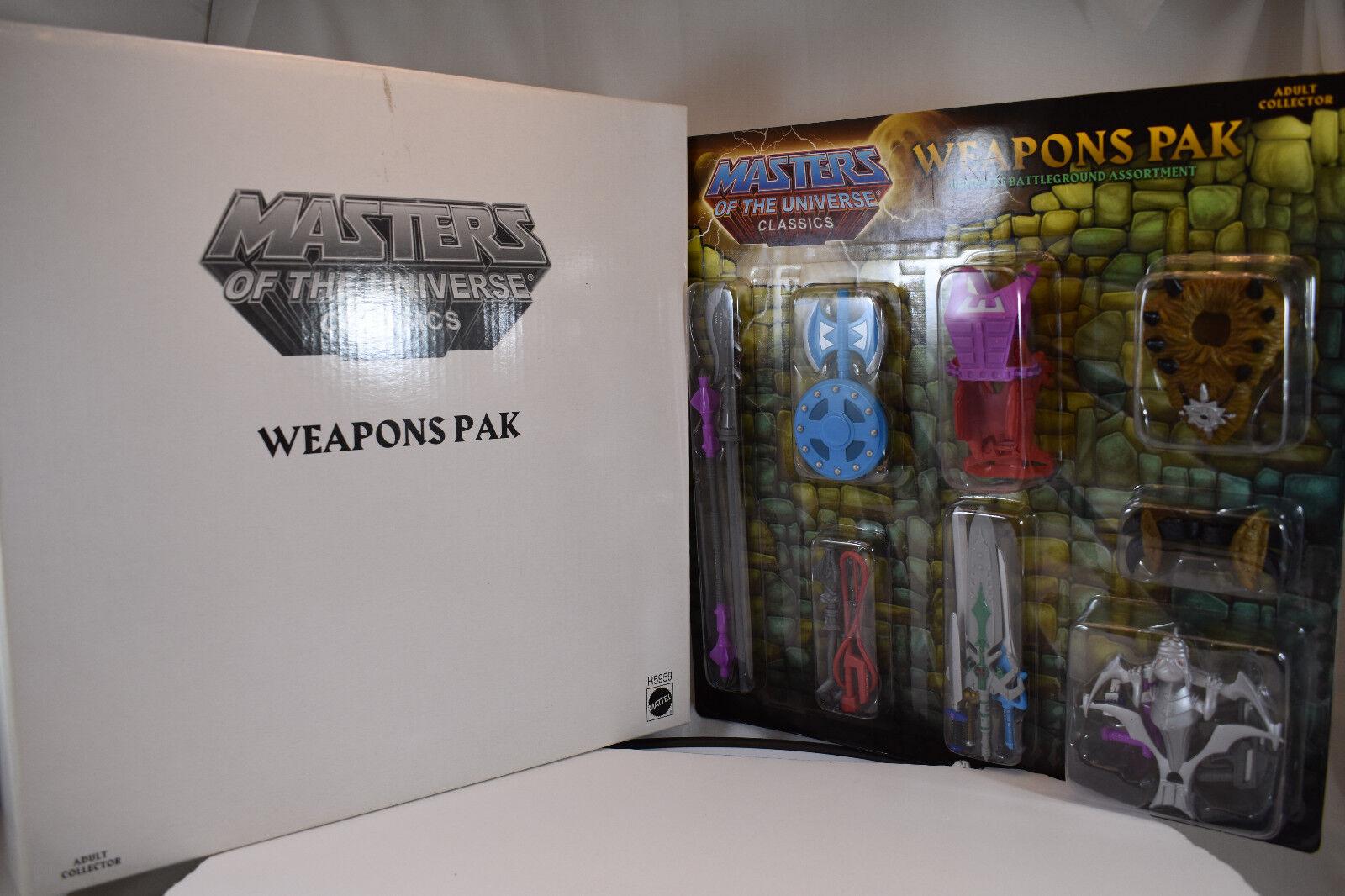 Mattel Masters of the Universe Classics Ultimate battleGround Weapon Pak NEW