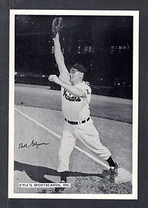 1950's Bill Glynn INDIANS UNSIGNED 6 x 8-3/4 TEAM ISSUE PICTURE PACK PHOTO #1