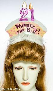 Birthday-Tiara-Novelty-21st-Birthday-034-Where-039-s-The-Bar-034-Funny-Costume-Tiara