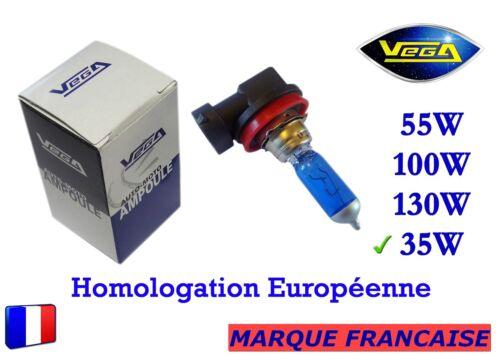 """► Ampoule Xénon VEGA® /""""DAY LIGHT/"""" Marque Française H8 35W 5000K Auto Phare ◄"""