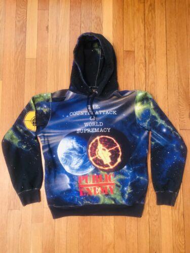 supreme public enemy hoodie medium