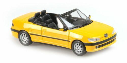 Peugeot 306 Cabriolet Yellow 1998 1:43 Model MINICHAMPS