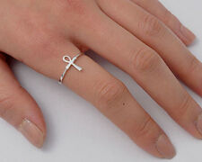 Silver Ankh Cross Ring Sterling Silver 925 Best Deal Plain Jewelry Gift Size 6