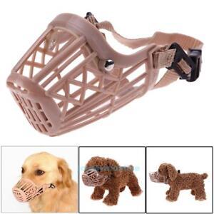 Adjustable-Basket-Dogs-Muzzle-Cover-Straps-Mesh-Bite-Bark-Chew-Control
