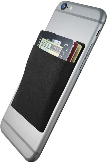 Pack of 3 Black CardNinja Ultra-Slim Self Adhesive Credit Card Wallet for Smartphones