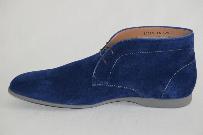 HUGO BOSS Stiefel, Gr. 42 / UK 8 in / US 9, Made in 8 ,   , Medium Blau 0c890e