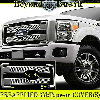 2011-2016 FORD F250 F350 F450 F550 Chrome Grille Grill COVER Overlay Insert Mesh