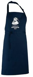 Santa is a Tottenham Fan Christmas Apron.Secret Santa Gift