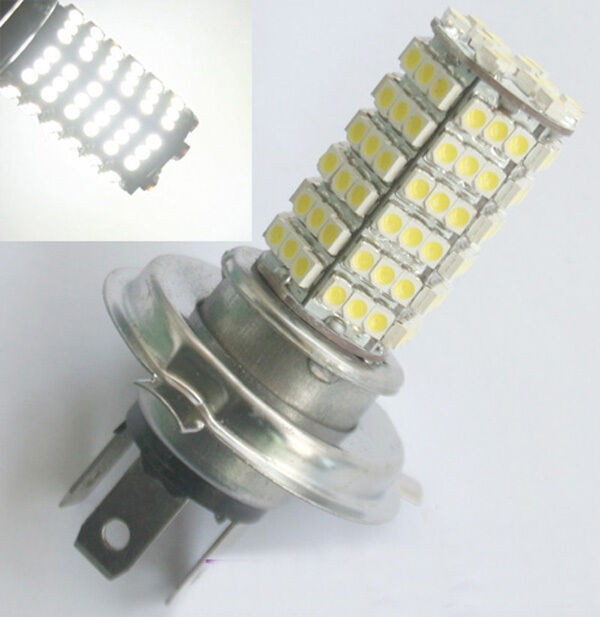 2 X Car H4 120 LED 3528 SMD White Fog Headlight Bulb Head Light 12V Super Bright