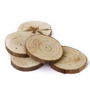 20pcs bois tranche tronc d 39 arbre artisanat rustique table de mariage d cor 6 8 cm ebay. Black Bedroom Furniture Sets. Home Design Ideas