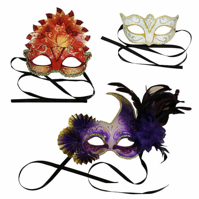 FANCY DRESS MASQUERADE MASKS - 9 STUNNING DESIGNS AVAILABLE