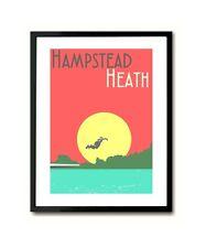 Hampstead Heath Bathing Ponds London Art Print