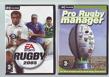 EA SPORTS RUGBY 2005 & PRO RUGBY MANAGER - 2 PC GAMES - FAST POST - COMPLETE