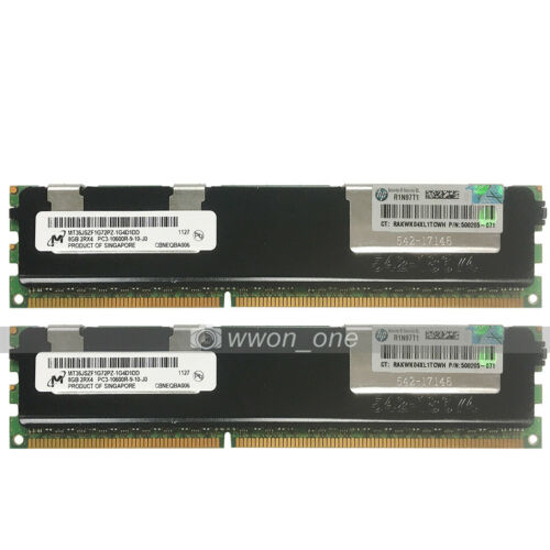 Micron 16GB 2x8GB 2Rx4 PC3-10600R DDR3-1333Mhz 240Pin ECC REG Server Memory RAM