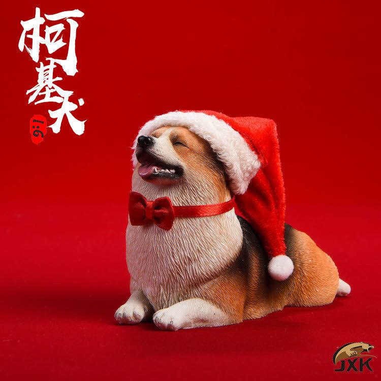 1 6 JxK Studio Jxk008D Corgi Pembroke Kneeling Dog Animal Action Figure