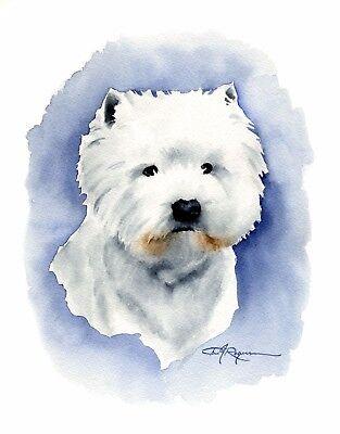 West Highland White Terrier Art Print Signed by Artist Ron Krajewski 8x10 Westie