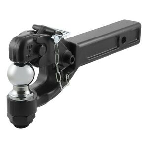Heavy Duty Trailer Hitch >> Details About Trailer Pintle Hook Heavy Duty Combo 2 Ball Military Style Hitch 2 X 2 Shank