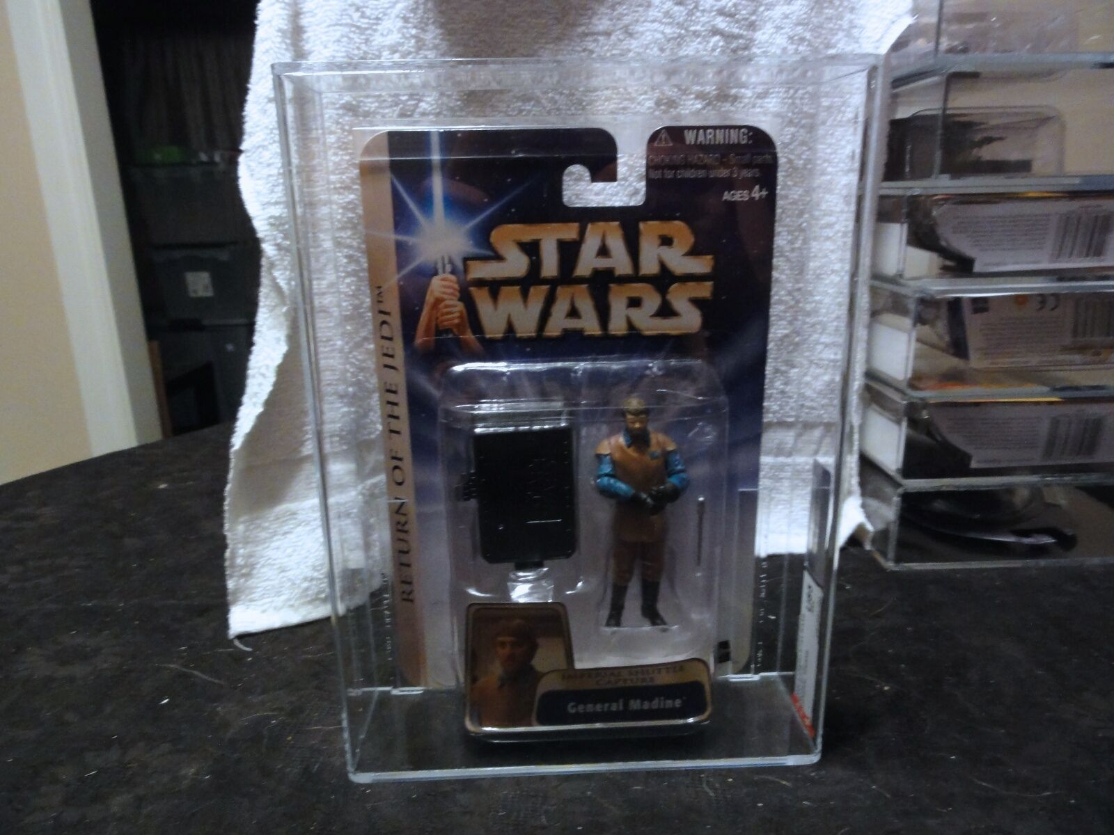 Star Wars 2004 Star Wars ROTJ Gold General Madine AFA Sealed MIB BOX