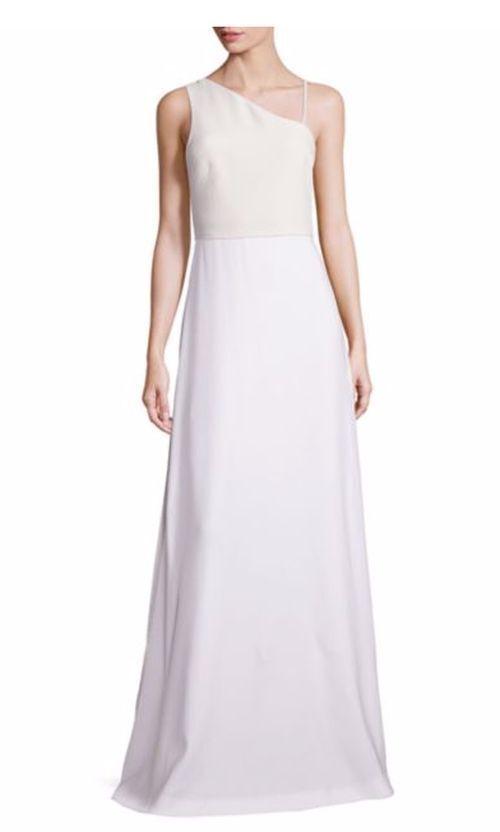 NWT Elizabeth and James Bianca Asymmetrical Ivory Gown 10