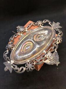 Occhi-ex-voto-Lamina-18x13cm-argento-vintage-milagros-Originale-Santa-Lucia