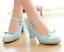 Women-Bowknot-Ankle-Strap-Heels-Retro-Mid-Chunky-Round-Toe-Mary-Jane-Shoe-Lolita thumbnail 12