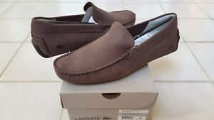 83d10003e5741 Lacoste Piloter 316 1 Mens Casual Nubuck Leather Loafer Shoes US10.5 ...
