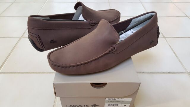 f59c3e643d503b Lacoste Piloter 316 1 Mens Casual Nubuck Leather Loafer Shoes US10.5 UK9.