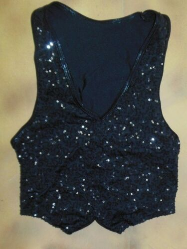 Sequin Front  pullover Lycra back Vest Dance 6 Colors Mens//Boys Szs Wolff F