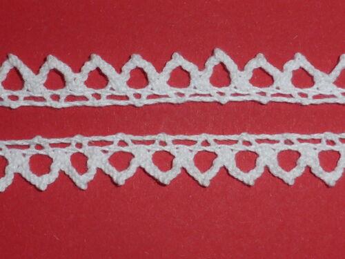 10 metros blanco puntilla borde vintage de encaje algodón Cluny recortar 1cm Top Seller